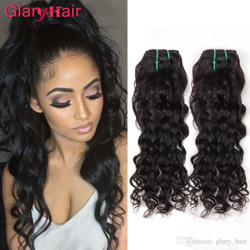 Mix Length 826inch Mink Brazilian Hair Extensions Natural Color