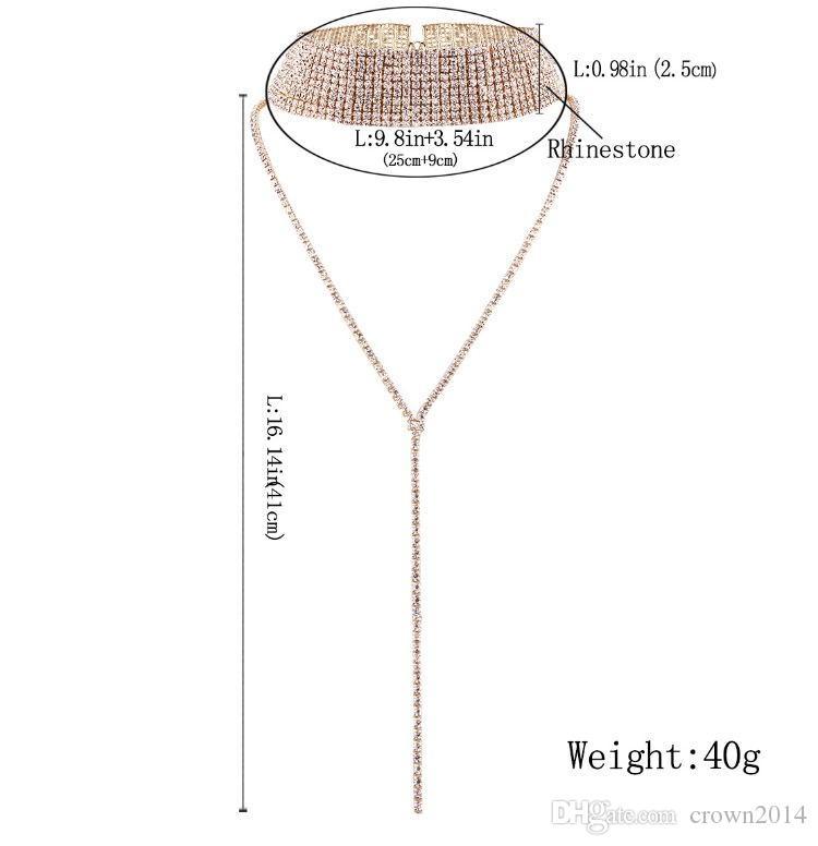 Collana girocollo in cristallo 2017 girocolli di lusso dichiarazione collane le donne alla moda accessori del collo robusto moda gioielli economici