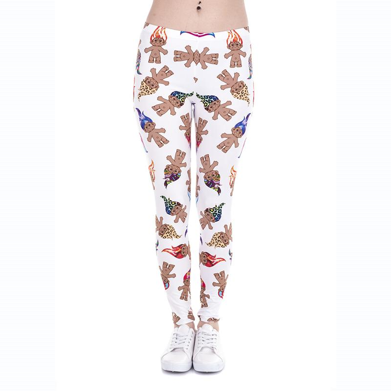 98d339eec7fa1 2019 Women Leggings Troll 3D Graphic Print Girl Skinny Stretchy Pants Tight  Capris Colorful Pattern Stretch Yoga Sports Soft Trousers J43864 From  Joybeauty, ...
