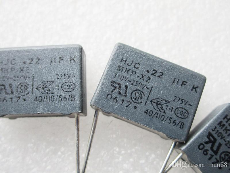 تايوان HJC السلامة X2 مكثف حقيقي 275VAC 224 0.22UF 220NF قدم بعيدا عن P15MM