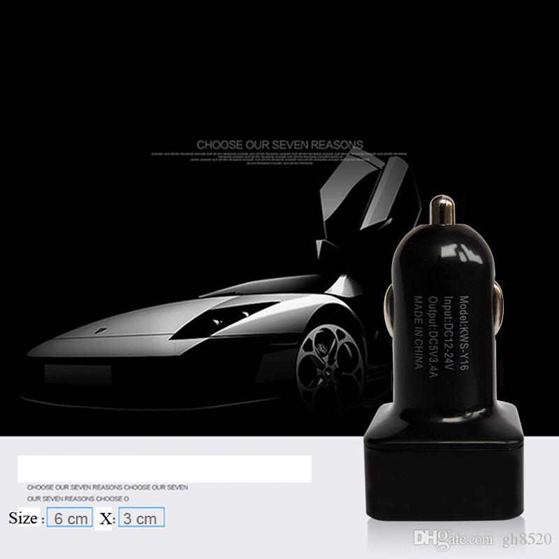Voltage Display Car Charger High-end DC VLT Voltage Tester 2 Porte Dual USB Car Adapter Adattatore Caricabatterie cellulare Rileva doppio USB