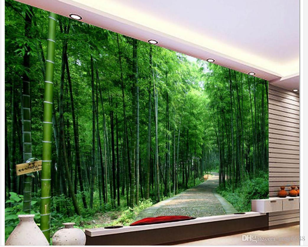 Home decor living room natural art small road bamboo forest see larger image amipublicfo Images