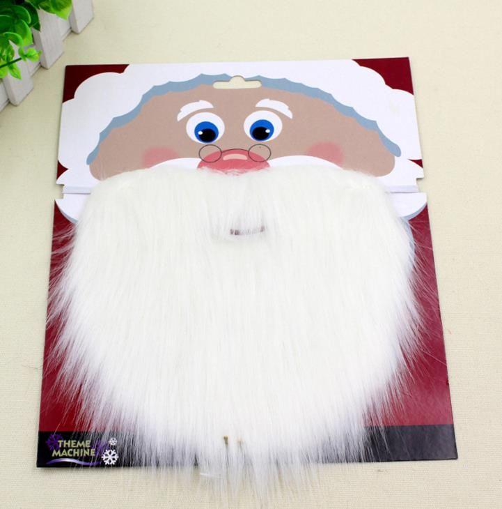 Natale Santa Bianco Fake Barbe Baffi Baffi Unisex Fancy Dress Xmas Cosplay Accessorio del Partito Puntelli di scena Prestazioni REGALO