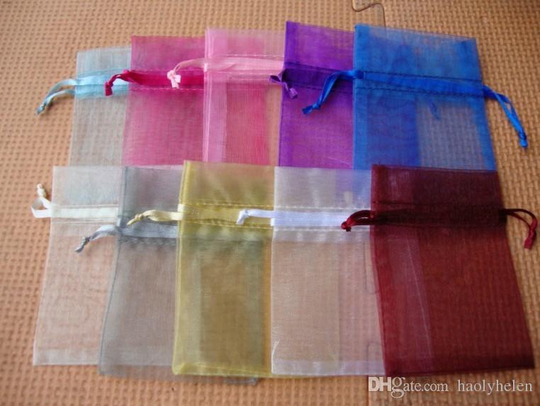 Wholesale 13x18 cm Multi Colour Premium Organza Wedding Party Favor Bags Jewellery Gift Pouches Fast