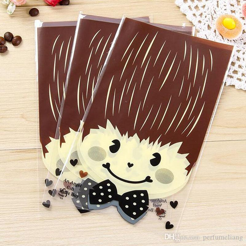Cute Boy and Girl Gift Bag Packaging Cookie Sugar Plastic Baby Shower Wedding Party Candy Packing OPP Bags ZA3946