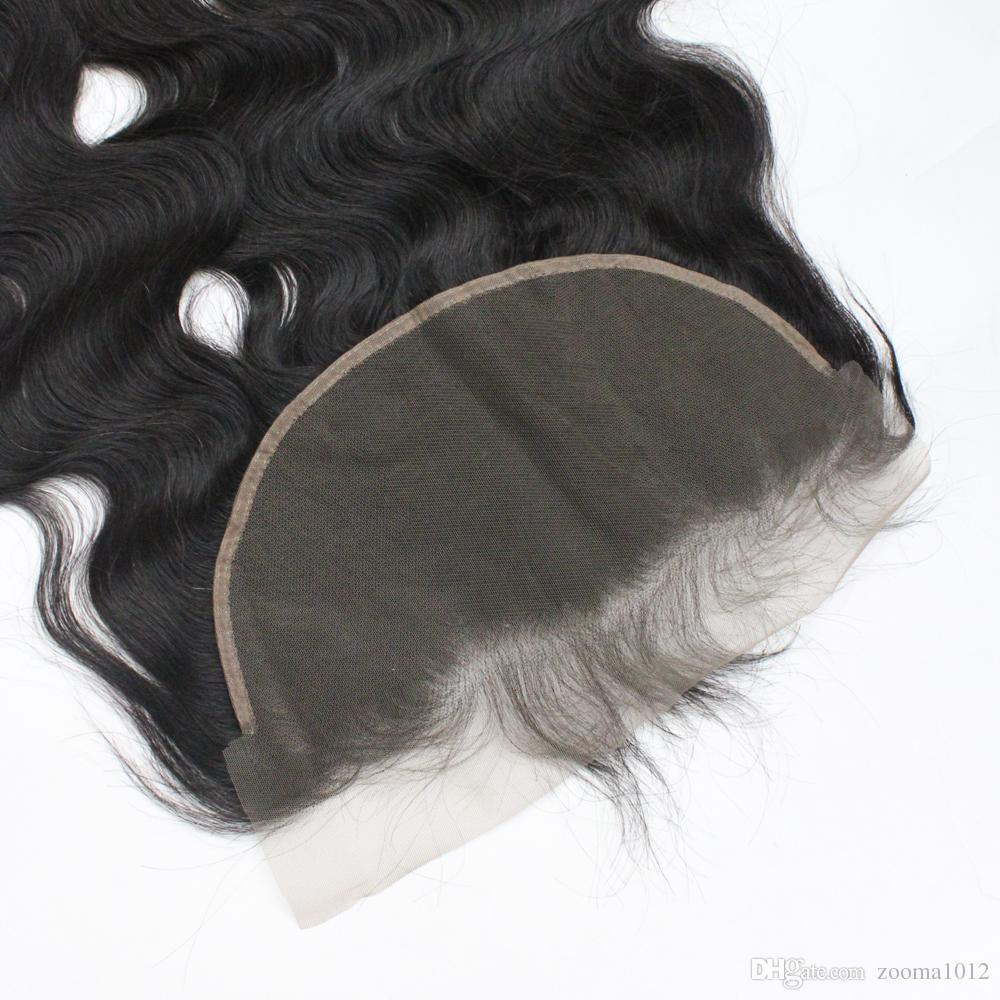 "Brazilian Virgin Human Hair Lace Frontal Closures Body Wave Lace Frontals 13*6 1B Middle Part Soft Cheap Remy Lace Frontals Hair 8""-20"""
