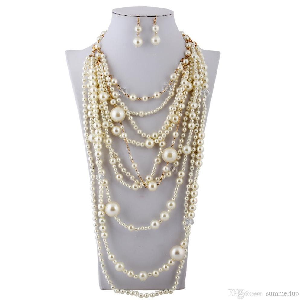 2016 новая женщина мода одежда аксессуары девушка ожерелье жемчужное ожерелье цепочка ключицы sn0007