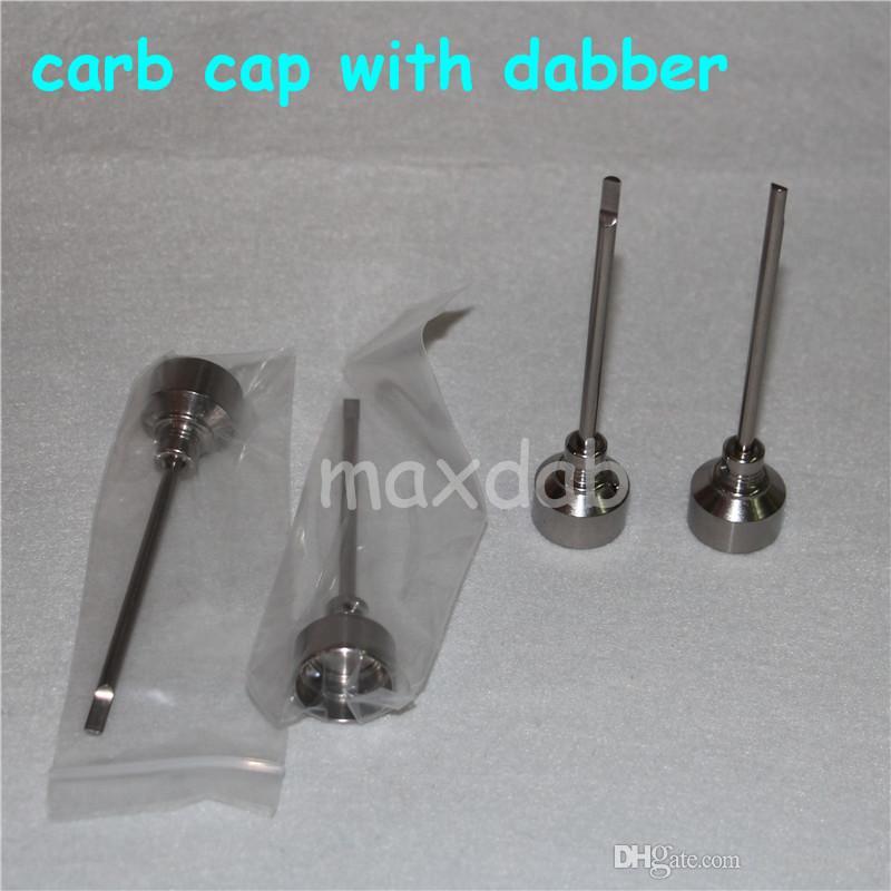 Domeless Titanium nail titaniumTi Nail 14mm 18mm Male FemaleCarb Cap Dabber Grade 2 VS سيراميك الأظافر الكوارتز ناي أنابيب المياه بونغ