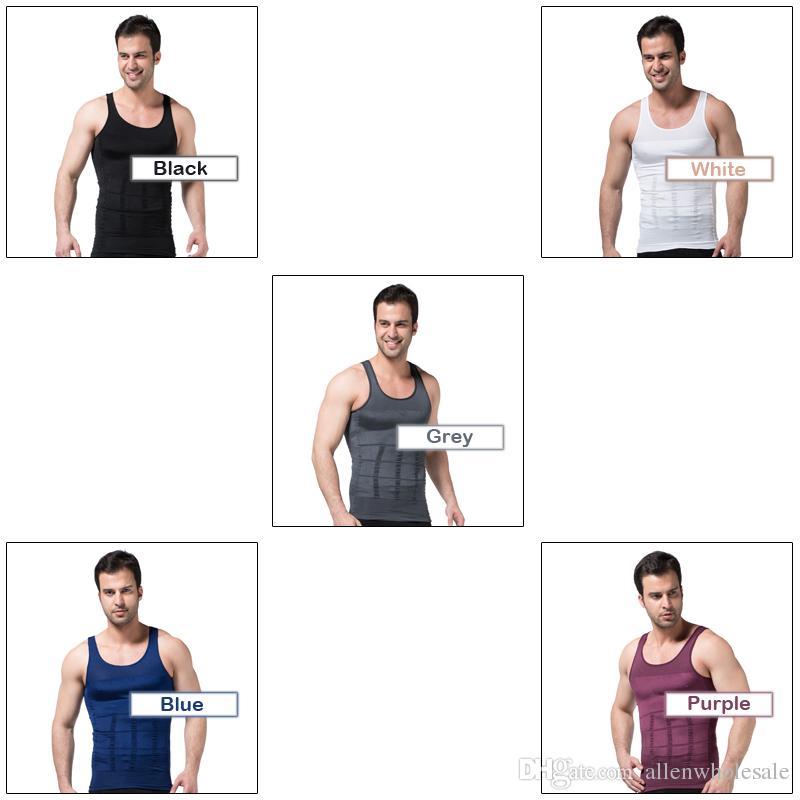 Mens Afslanken Body Shaper Bier Bellly Buster Underwear Vest Firm Control Shapewear / Hoge kwaliteit
