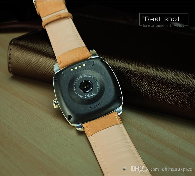 DM88 Smart Watch Round Display Leather Strap Bluetooth Smartwatch Support Heart Rate Monitor For IOS Android Smartphone