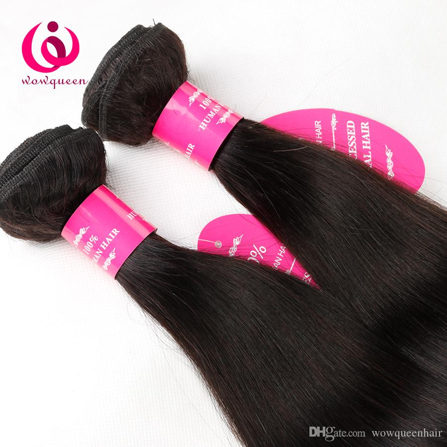Indian Human Hair Straight 4Bundles Wow Queen Hair Cheap Wholesale Price No Shedding No Tangle 8-28inch Indian Virign Human Hair Weave