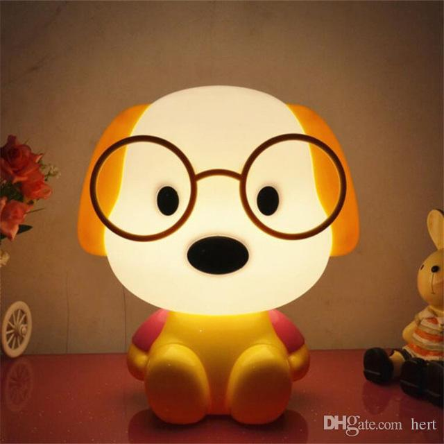newest lovely Led Night Lights Cute Cartoon Dog Beer Rabbit Desk Lamp Creative Bedside Light Luminarias For Kid Children Room Decor or Gift
