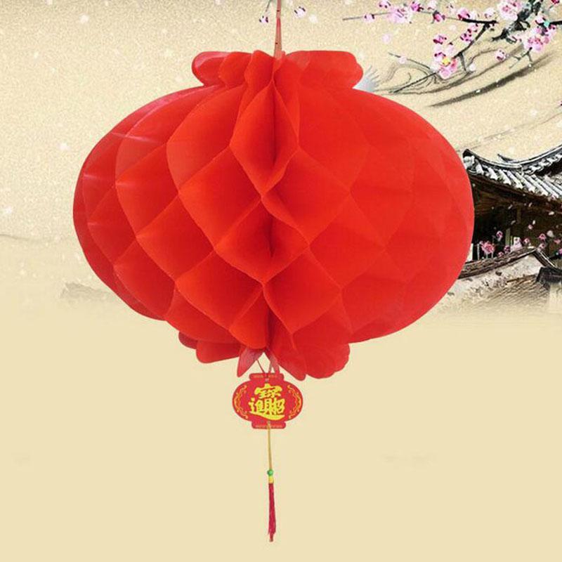 Nowy Rok Christmas Decoration Wodoodporna Czerwony Chiński Papier Lampiony Na Próby Wiszący Festiwal Latarnia Darmowa Wysyłka Za4921