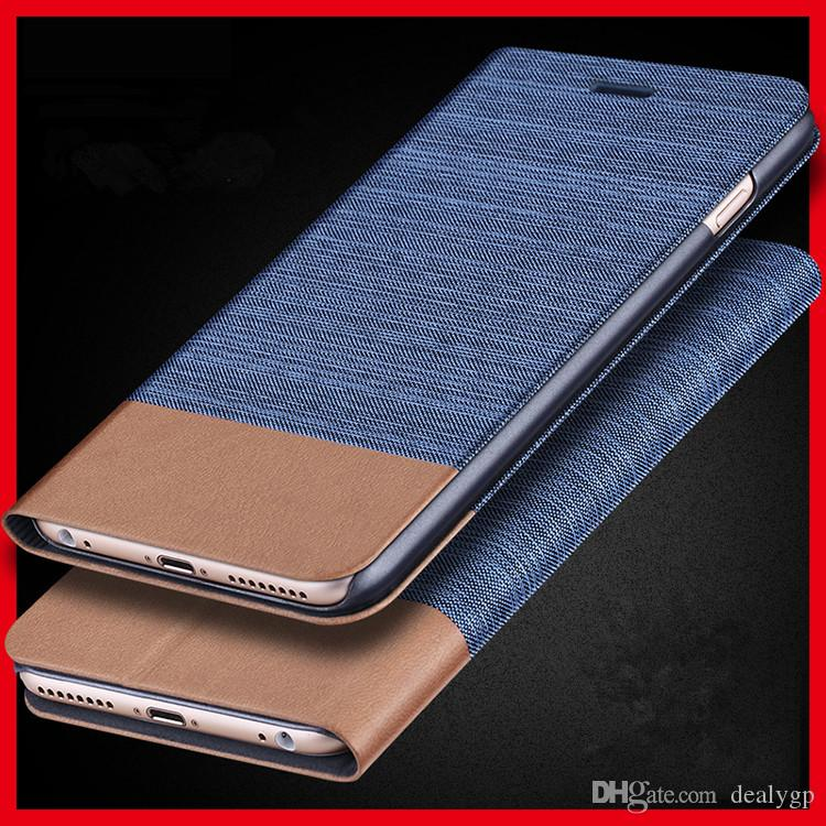 brand new 2db6d 7e18c Jeans Canvas Leather Mobile Smartphone Stand Case Flip Cover Card Holder  for Samsung Galaxy note 4
