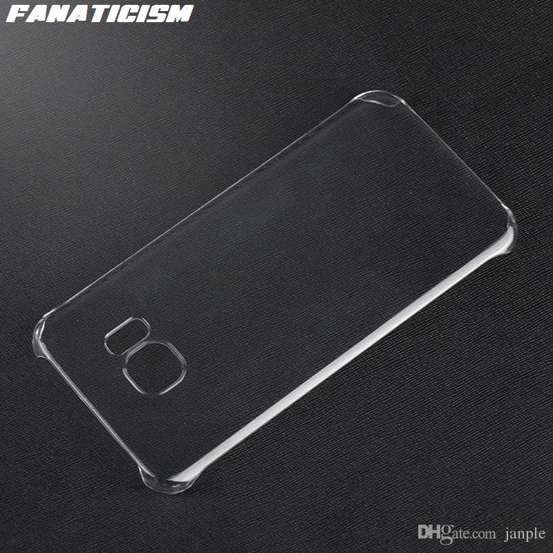 Parlak Plastik Sert Şeffaf Kılıf için Samsung Galaxy S10 5G S9 S8 S7 S6 Artı Not 8 9 10 1.3mm PC Kapak