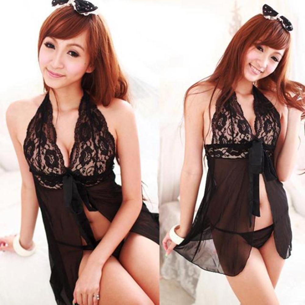 7186453ce45f Wholesale- Women Sexy Nightdress Lingerie+G String Thongs See Through  Babydoll Nighty SL34 Women Nightdress Nightdress Woman Lingerie Nighties  Online with ...