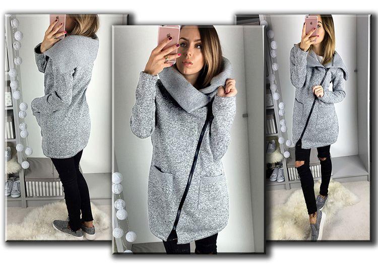 New Style Casual Size Long Zipper Women Jackets 2017 Lapel Neck Long Sleeve Pockets Lady Coats Autumn Winter S--5XL