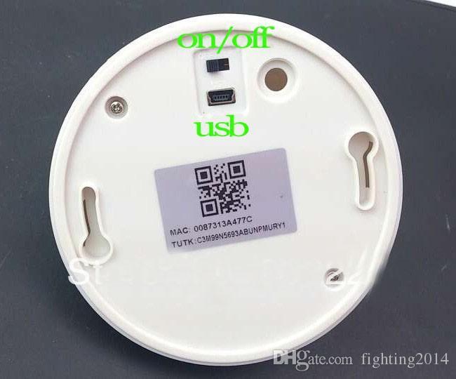Detector de fumaça DVR P2P WIFI MINI câmera IP UFO vigilância sem fio Live view Câmera de segurança Em Casa Nanny Cam para smartphone PC
