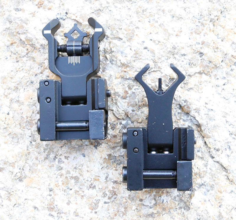 최대 플립 전면 후면 아이언 사이트 설정 듀얼 다이아몬드 모양은 사냥 총 소총 서바이벌 액세서리 20mm 마운트에 대한 BUIS