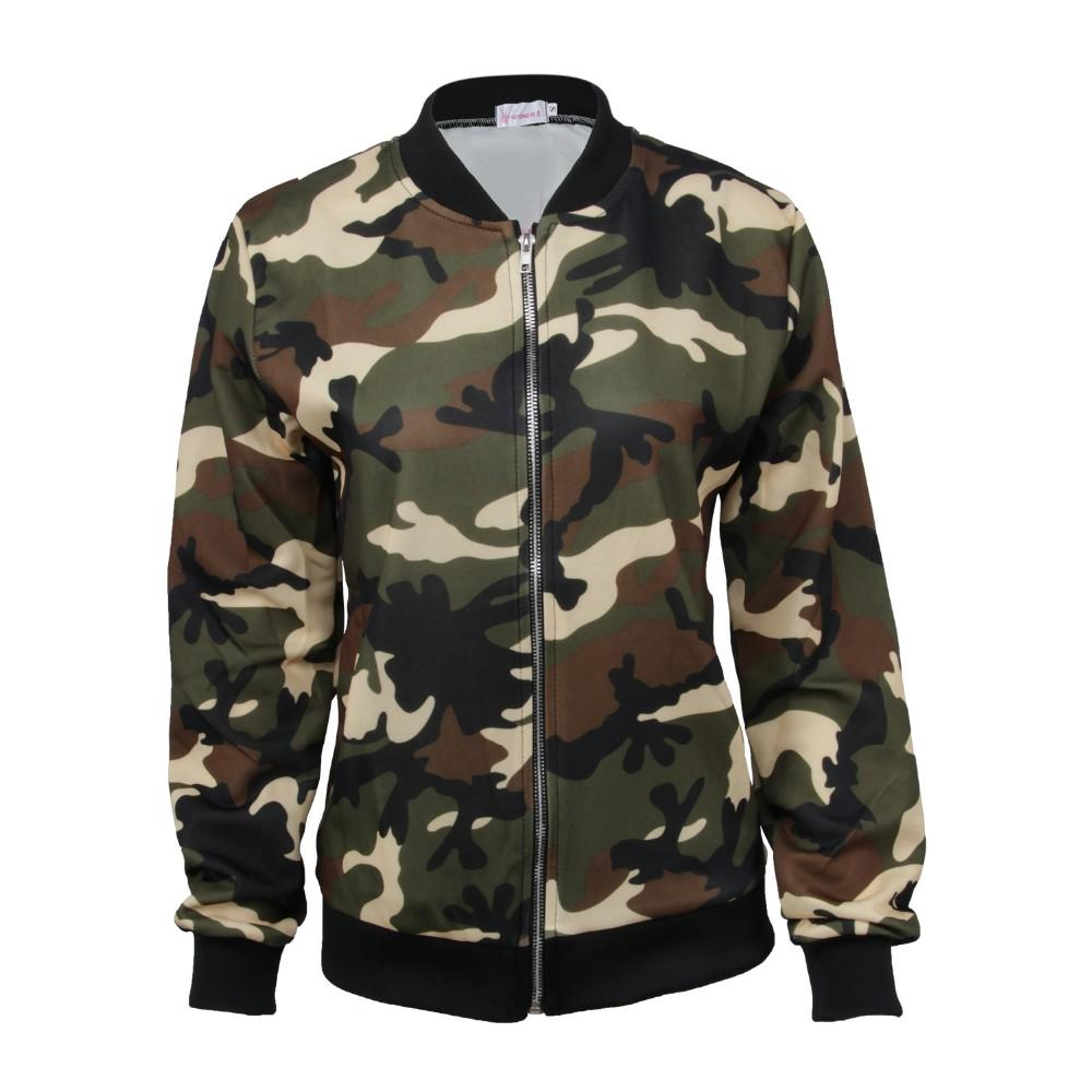 Women Men Army Green Coat Military Bomber Jacket Outerwear Pocket ...