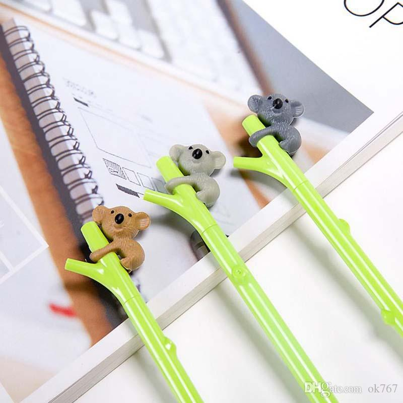 New Cute Koala Bear Gel Pen for Writing 0.5mm Roller Ball Black Color Pen Office Kawaii Stationery Accessories School Supplies