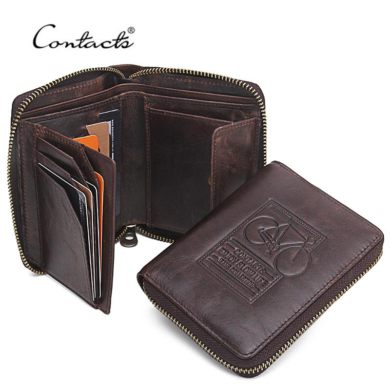 Wholesale CONTACT S Men Wallets Genuine Leather Brand Design Zipper Purses  Bicycle Print Designer Mens Purses Money Bag With Coin Pocket Custom Leather  ... ae2e6dec6d63a