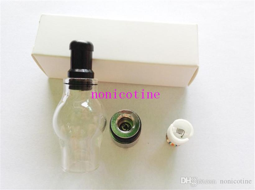 Glass globe atomizer pyrex glass tank Wax Coil vaporizer pen vapor cigarettes electronic cigarette glass atomizer Cartomizer