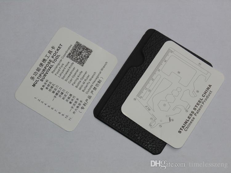 11 en 1 matador tarjetas de sable Cuchillo de bolsillo portátil Herramienta de tarjeta de crédito Cuchillo de supervivencia al aire libre Herramientas de supervivencia para acampar