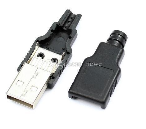 Connettori cavi computer Connettore maschio IMC tipo A USB 4 pin con presa in plastica nera
