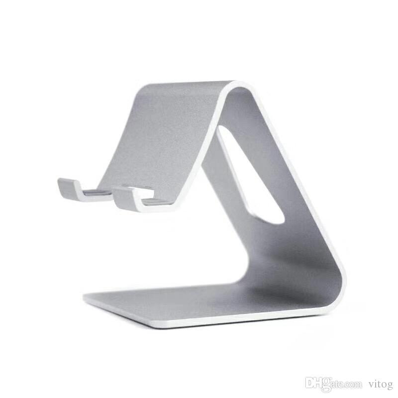 Soporte de teléfono universal de aluminio de lujo para tableta de metal de metal Soporte para teléfono para iPhone ipad mini Samsung Smartphone Tablets Laptop
