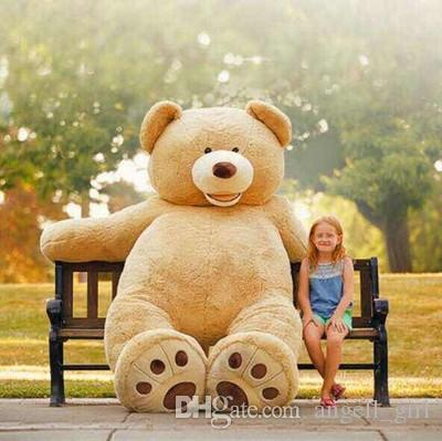 15624936e79 2019 260CM Super Giant Stuffed Teddy Bear Big Large Huge Brown Plush  Stuffed Soft Toy Kid Children Doll Girl Christmas Gift From Angell girl