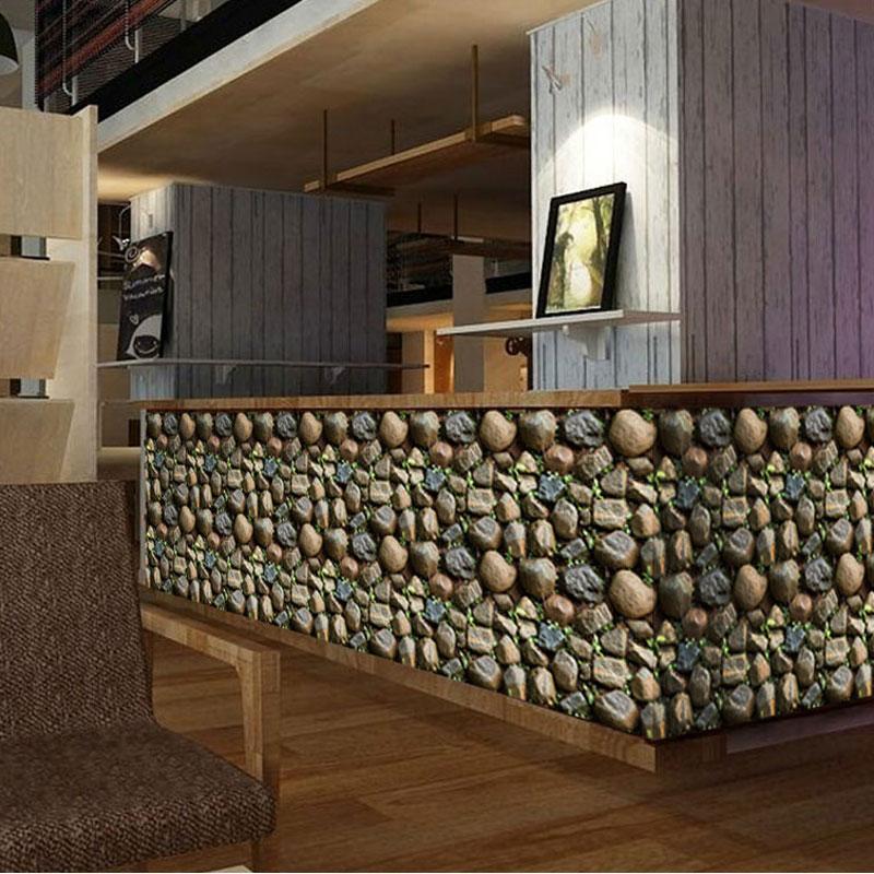 Compre 3d Pegatinas De Pared De Piedra Decoracion Para El Hogar - Piedra-decoracion