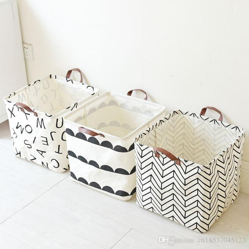 2019 Foldable Laundry Basket Baby Toys Basket Fabric Basket For