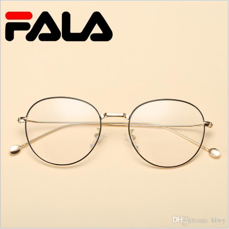 66e03c2d4f421 Compre Circular Retro Fronteira De Metal Atual Estudante Óculos Homens E  Mulheres Universal Espelho Decorativo Óculos De Armação Lente De Gordura  2257 De ...