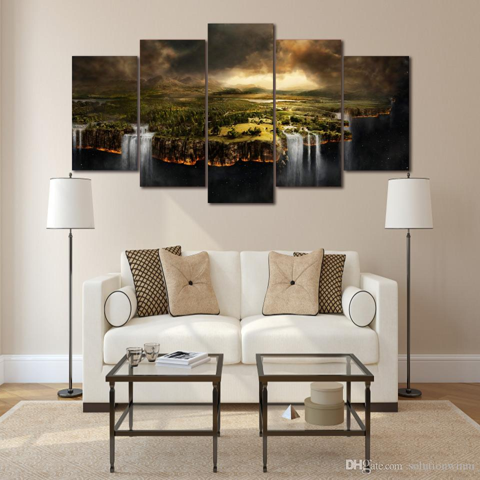 Framed HD Printed Edge Of The Earth Wall Art Canvas Print Poster Canvas Pictures Modern Painting For Living Room