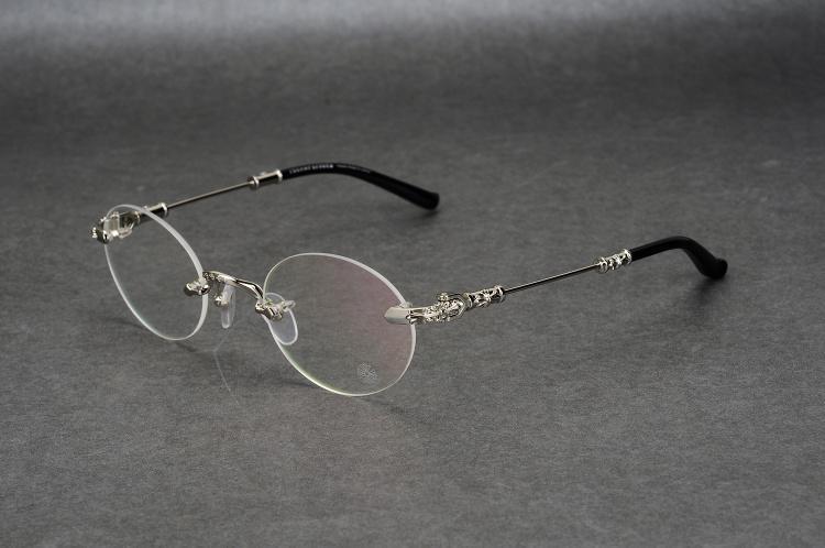 New Crow Heart seine randlosen Fassungen Brillenfassungen Men Square Round Tide männlich Myopie Brillenfassungen Brillenfassungen Korrekturbrillen