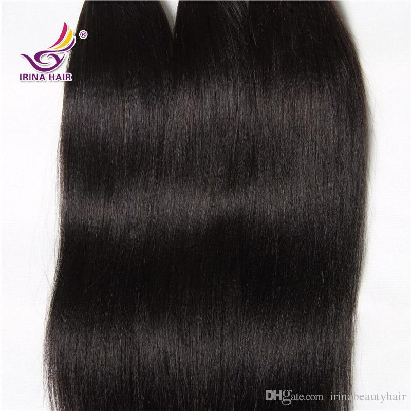 2017 NOVA CHEGADA peruano cabelo virgem luz yaki cabelo humano em linha reta tecer barato yaki extensões de cabelo humano feixes para venda