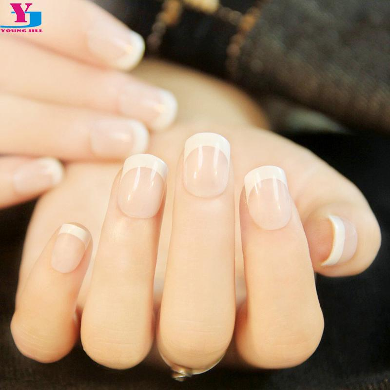 Wholesale Lady Women\'S French Style Diy Manicure Art Tips False Fake ...
