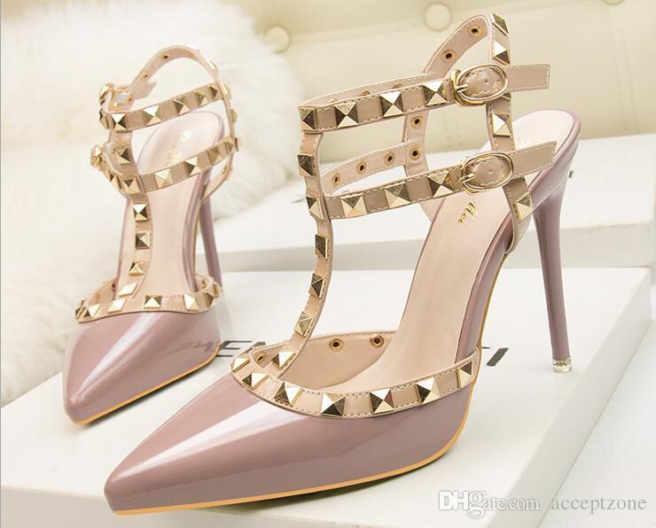 460a55c6e7f Brand Designer Women Shoes 10cm Women Pumps Plus Size 34-39 High ...