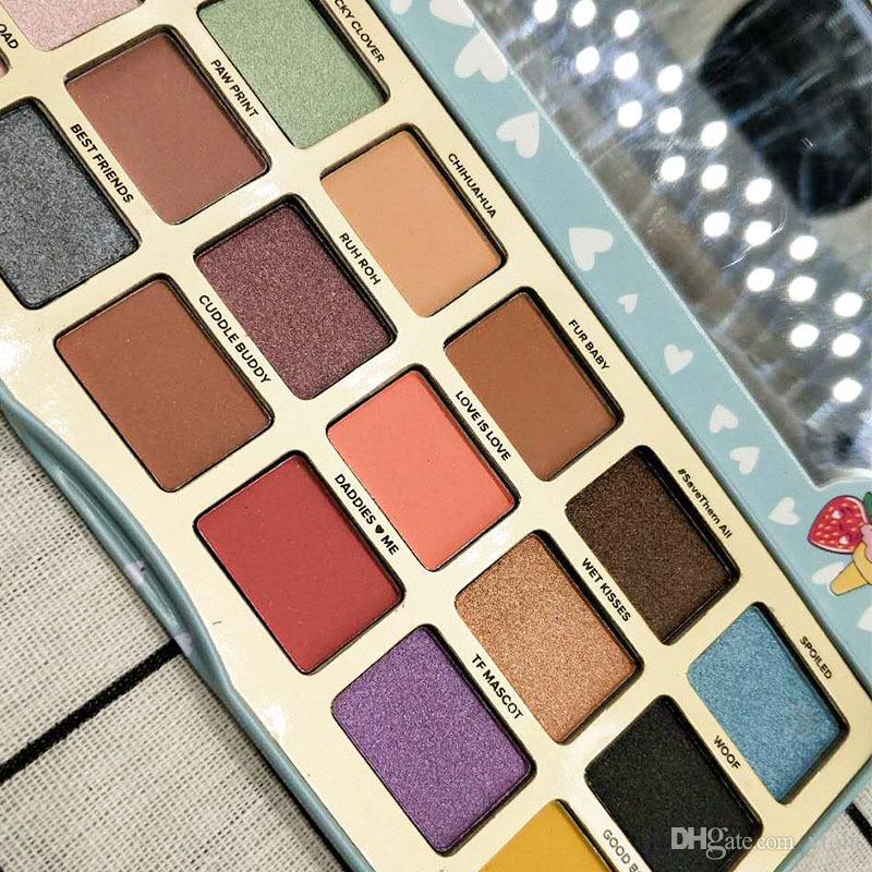 Sıcak satış Yonca Bir Kız En Iyi Arkadaşı YAAASS dhl tarafından 18 Renkler Göz Farı makyaj Koleksiyonu Paleti ücretsiz kargo