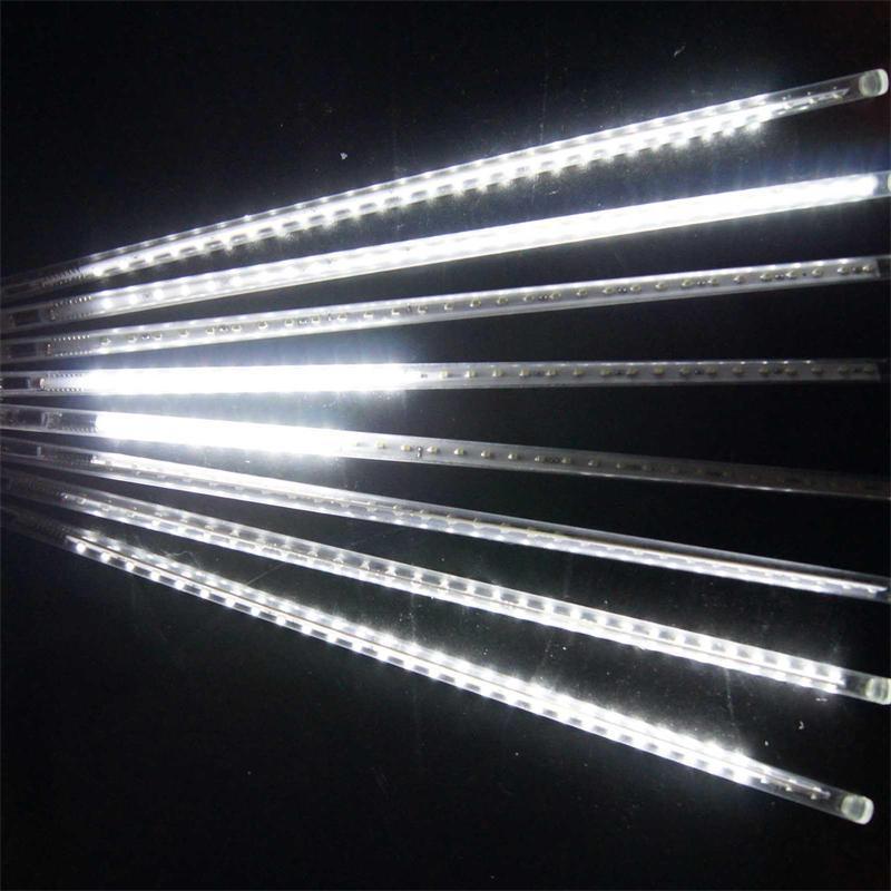 크리스마스 빛에 눈이 LED 크리스마스 비 튜브 스트립 설정 20 30 50cm 유성우 비 LED 빛은 유럽 연합 EU 미국 플러그 튜브