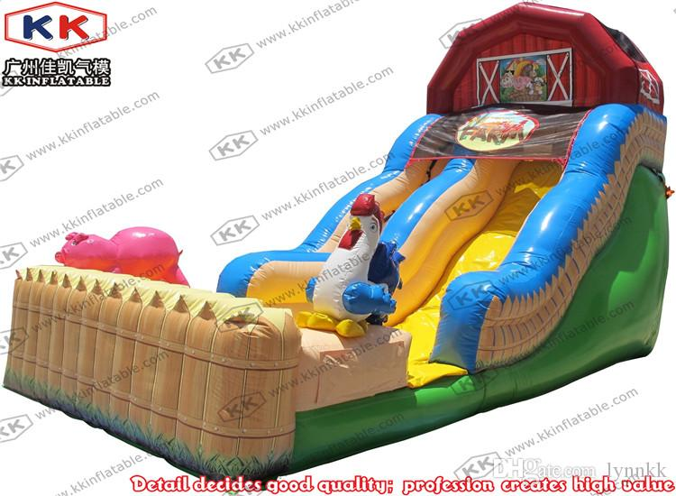Inflatable Pool Slide 2017 farm theme inflatable pool slide, children slide for sale
