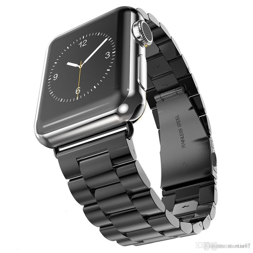 eb071b9f186a6 Compre Correa De Acero Inoxidable De Lujo Hebilla Clásica Adaptador Enlace  Pulsera Banda De Reloj 40 Mm 44 Mm 42 Mm 38 Mm Para Apple Watch Iwatch  Series 4 3 ...
