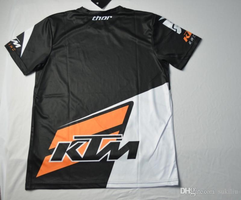 2017 neue Ankunft Männer Casual KTM Motorrad T-shirt Jersey Kurzarm Airline Jersey Motocross DH Downhill MX MTB Atmungsaktive Off-Road XXL
