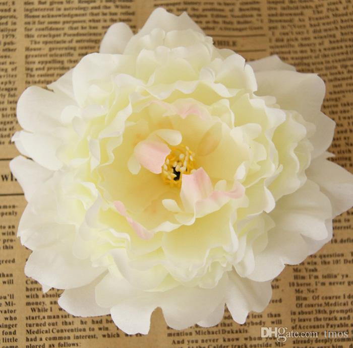 "5.9"" Large Silk Peony Flower Heads Multi color for Wedding Party Decoration Artificial Simulation Silk Peony Camellia Rose Flower Wall"