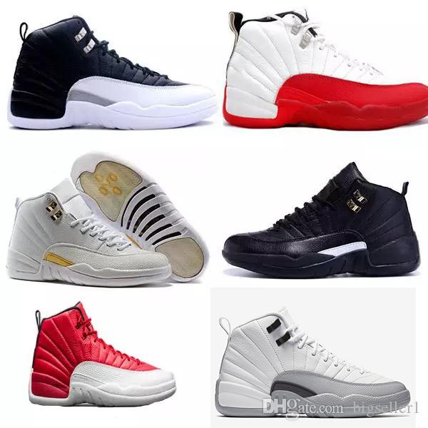 a5563007f36e New 12s Mans Basketball Shoes Taxi Ovo White Wolf Grey Cherry Flu Game The  Master Barons Gym Red Sneakers Kids Tennis Shoes Clearance Wide Kids Shoes  From ...