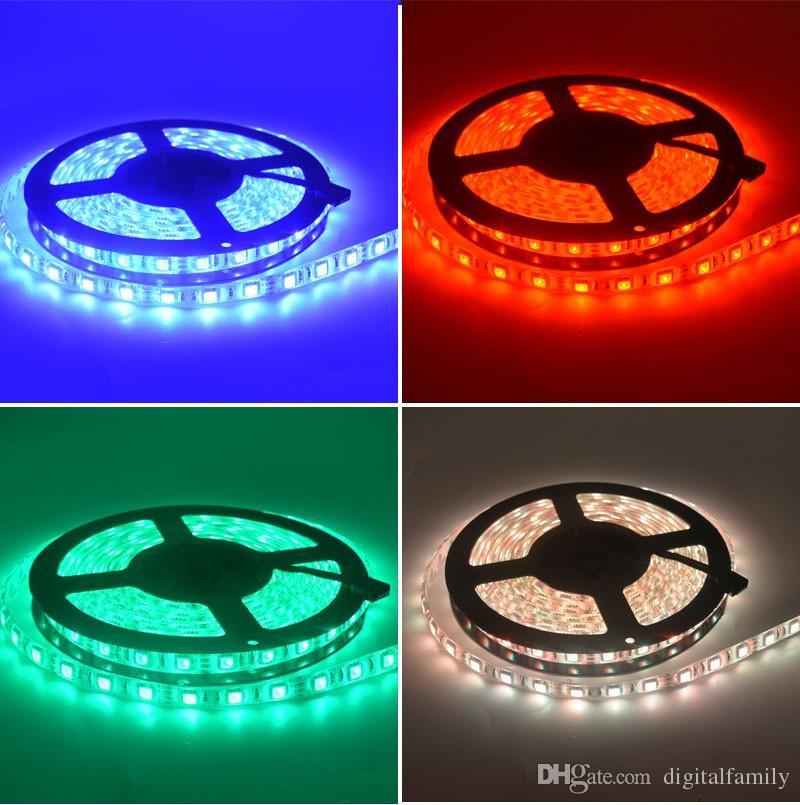 100m 20 Rolls LED Strip Light RGB 5050 SMD 300LED Waterdichte IP65 100 meter LED-lint Wijzig kleur Halloween Kerst String via DHL