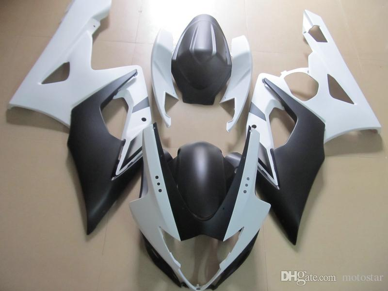 Injection mold ABS plastic fairings for Suzuki GSXR1000 2005 2006 white black fairing kit GSXR1000 05 06 OT50