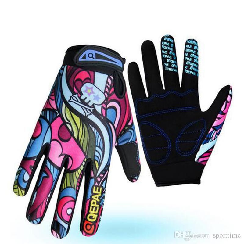 New Style Men's Bicycle Riding All Finger Riding Gloves Outdoor Sports Slippery Trolley Long Finger Gloves