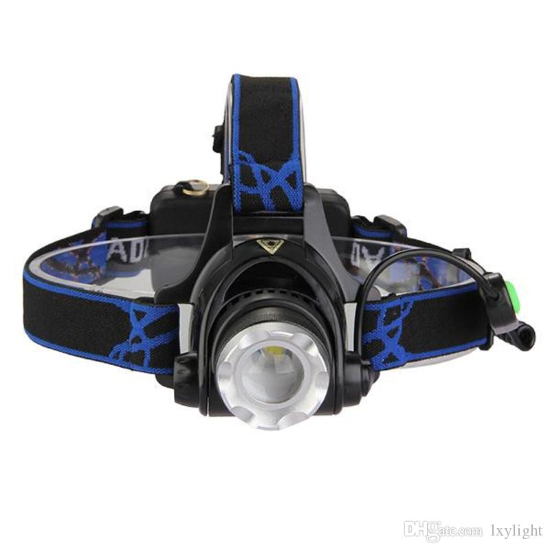 Best Price 2000Lm XM-L T6 LED Zoomable Headlamp Headlight Head Torch 2x 5000mAh 18650 Battery +AC Charger